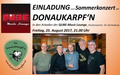 Sommerkonzert am 25.8.2017 um 21.00 Uhr im QUBE